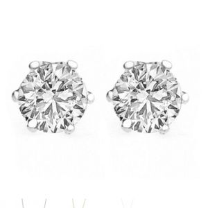 Swarovski 2 carat stud earrings sterling silver